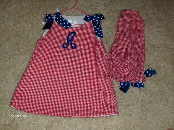 Custom Made Red, White, Blue- 4th of July Outfits
