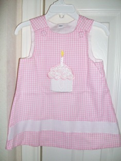 Boutique Pink Birthday Aline Dress Custom