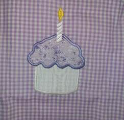 Lavender Birthday Cupcake A Line Dress