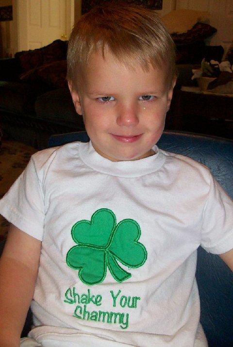 Custom Applique Shake Your Shammy St. Patty's Day Shamrock Shirt