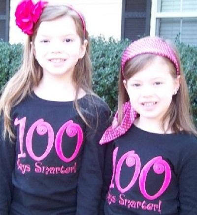 Custom Applique 100 Days Smarter School Shirt