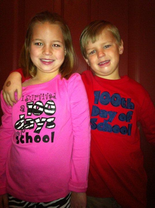 100th Day of School Applique Custom Shirt
