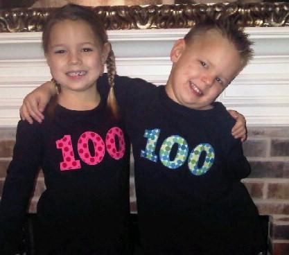 100 Days Of School Custom Applique Shirt