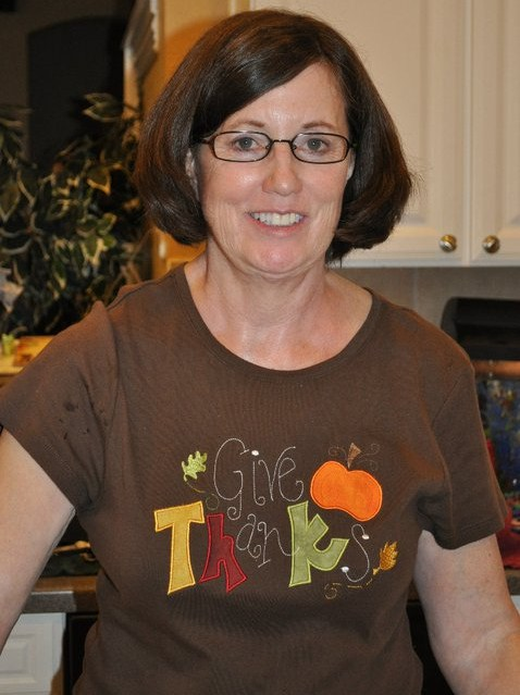 Custom Applique Give Thanks Thanksgiving Shirt