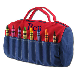 Doodlebugz Crayola Crayon Dufflebag- Red and Blue