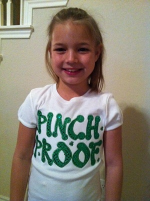 Custom Applique St. Patrick's Day Pinch Proof Shirt
