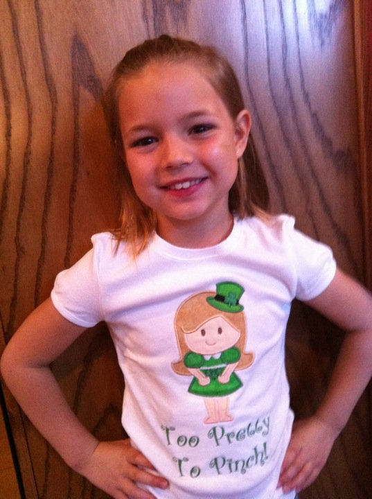 Applique Custom St. Patrick's Day Little Girl Shirt