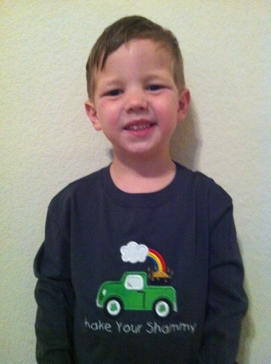 Custom Applique Pot Of Gold St. Patrick's Day Truck Shirt