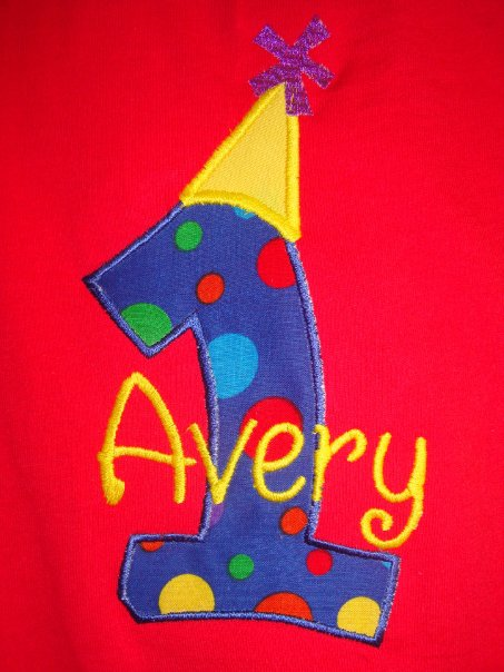 Custom Polka Dot Number Applique Circus Theme Birthday Party Shirt