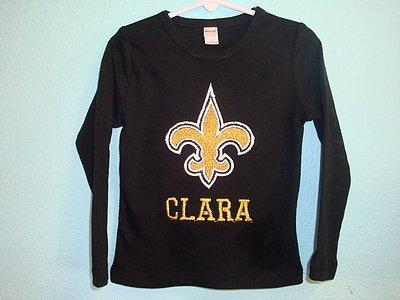 Custom Applique Saints Football Shirt