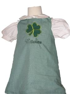 Custom Applique St. Patrick's Day Shamrock Aline Dress