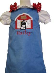 Custom Applique Barn A Line Dress