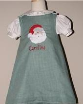 Custom Applique Santa Face Dress