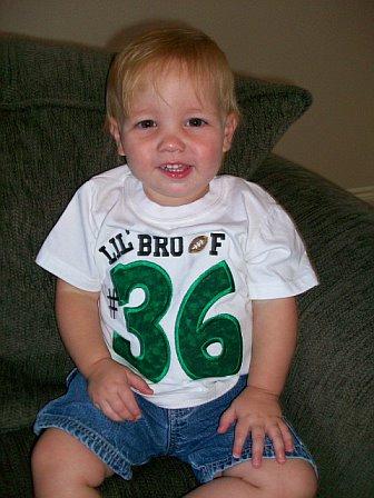 Football Fan Number Custom Applique Shirt