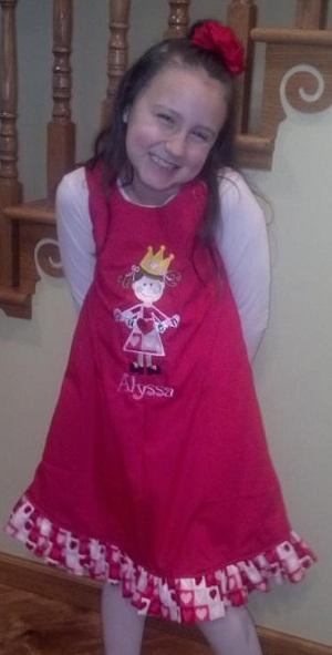 Custom Applique Valentine's Princess Dress