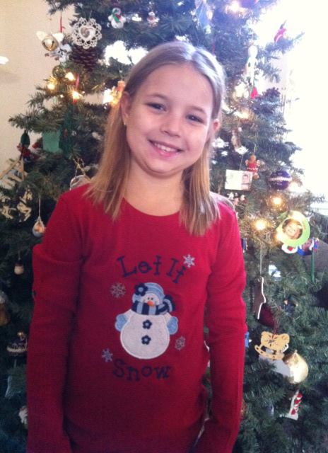 Custom Applique Girl Snowman Christmas Shirt