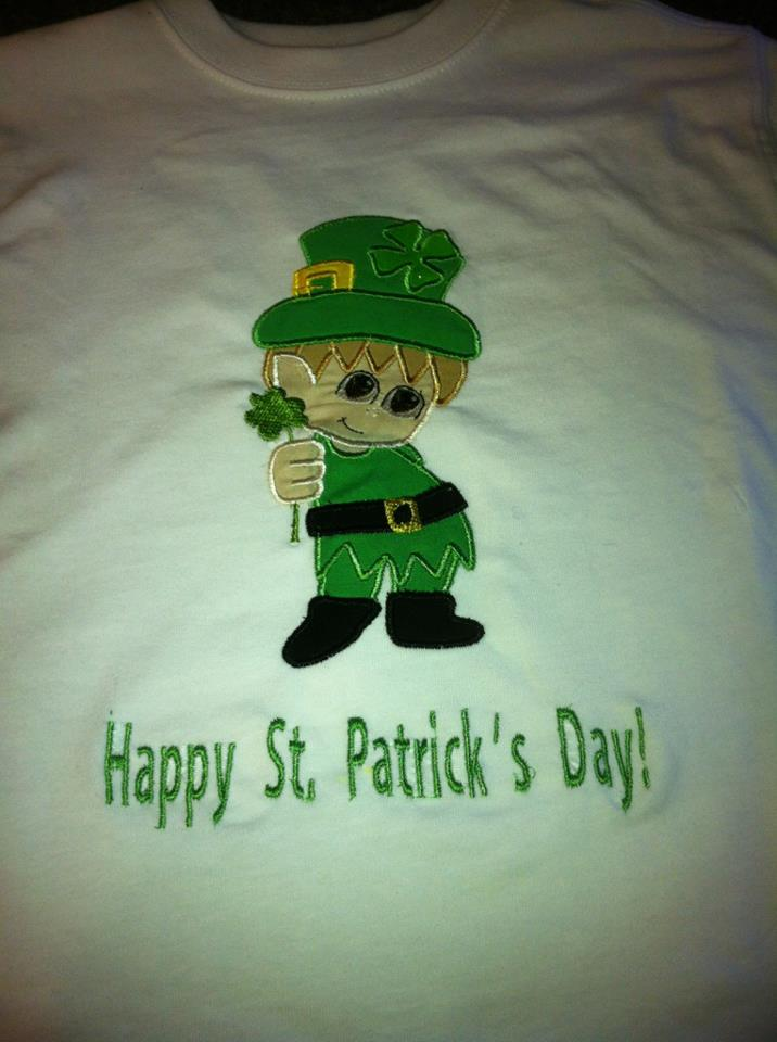 Custom Applique Leprechaun St. Patrick's Day Shirt