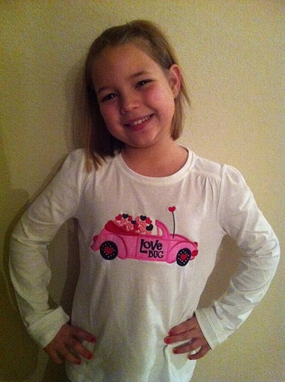Custom Applique Love Bug Valentine Shirt