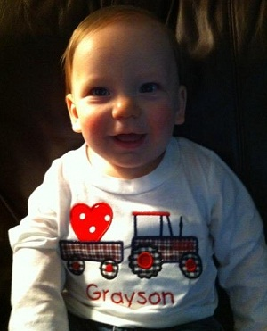 Custom Applique Tractor with Heart Valentine Shirt