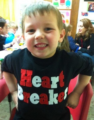 Custom Applique Valentine's Day Heart Breaker Shirt