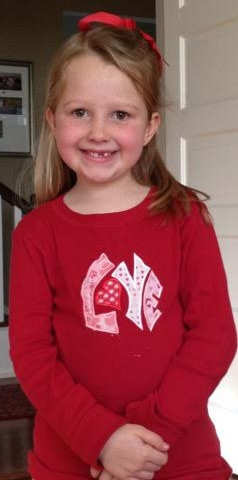 Custom Applique LOVE Valentine's Day Shirt