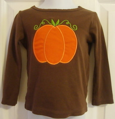 Custom Applique Pumpkin Shirt