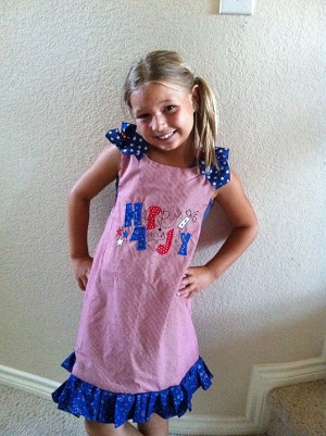 Custom Applique 4th of July Dress