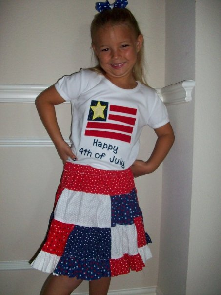 Custom 4th Of July Twrill Skirt and Shirt