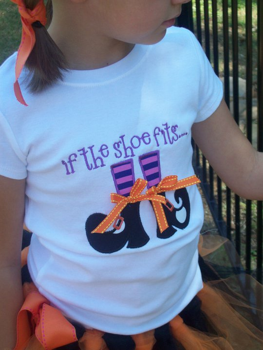 Custom Applique Witchy Shoes Halloween Shirt