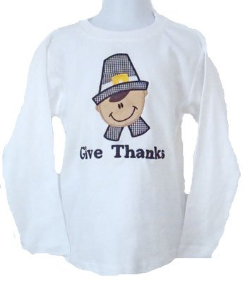 Custom Applique Pilgrim Boy Shirt