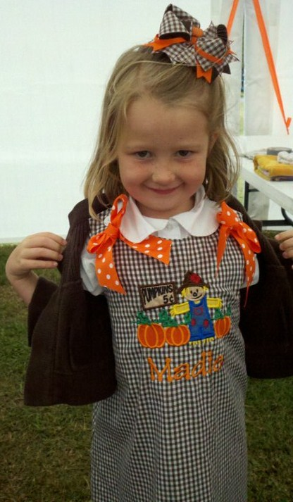 Custom Applique Pumpkin Patch Dress
