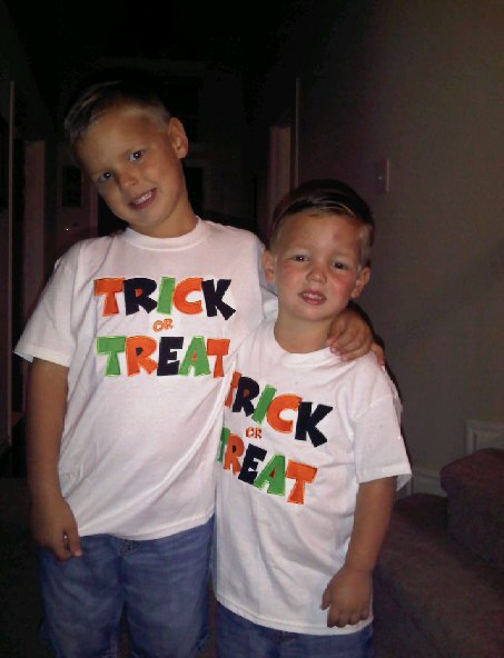 Custom Halloween applique Trick or Treat Shirt