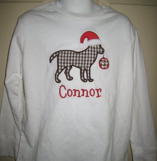 Custom Applique Christmas Dog Shirt