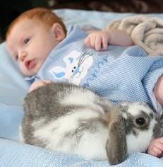 Custom Applique Light Blue Easter Bunny Jon Jon