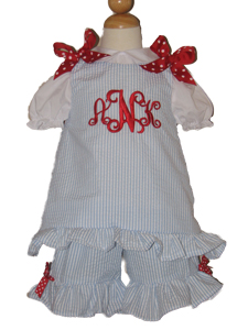 CUSTOM BOUTIQUE RED WHITE BLUE ALINE SHORTS SET
