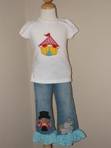 Custom Circus Tee & Jeans Set