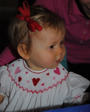 Custom Smocked Valentine's Day Heart Smocked Dress