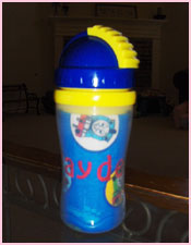 Monogrammed Straw Sippy Cups