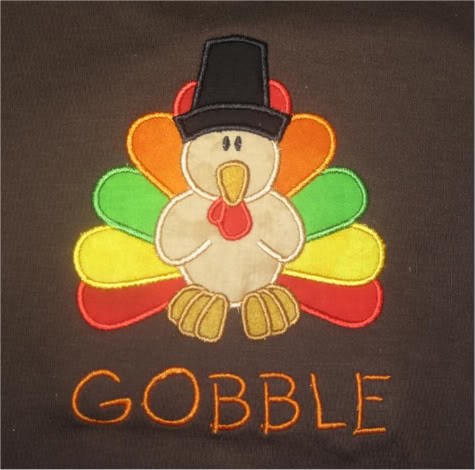 Custom Boutique Thanksgiving Turkey Shirt