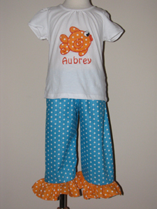 Custom Goldfish Tee & Pants Set