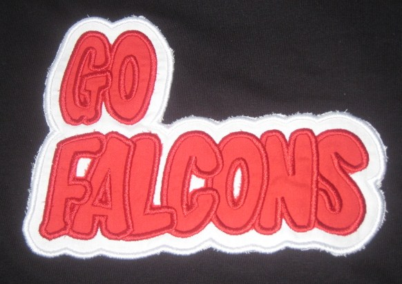 Custom Applique Go Falcons Football Shirt
