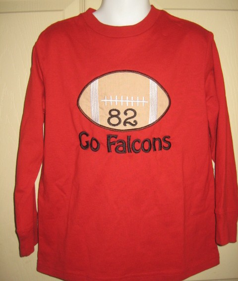 Custom Applique Football Atlanta Falcons Shirt