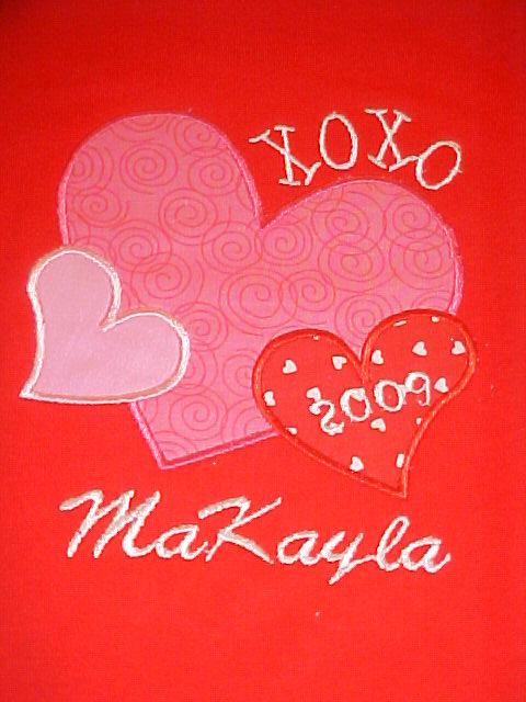 Custom Applique Valentine's Day Heart XOXO Shirt