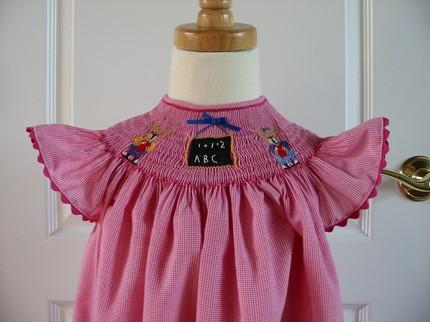 Custom Smocked 1st Day of School Dress