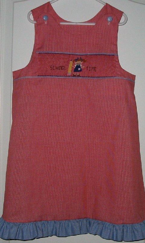 Custom Smocked Aline School Girl Dress