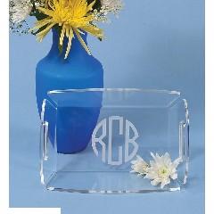 Monogrammed Acrylic Bread Basket
