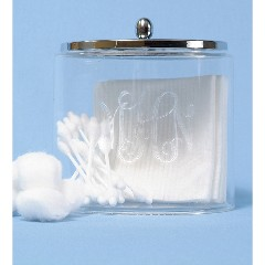 Monogrammed Acrylic Canister