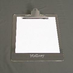 Monogrammed Acrylic Clipboard