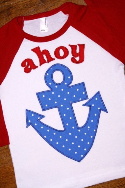 AHOY MATEY Applique Tee