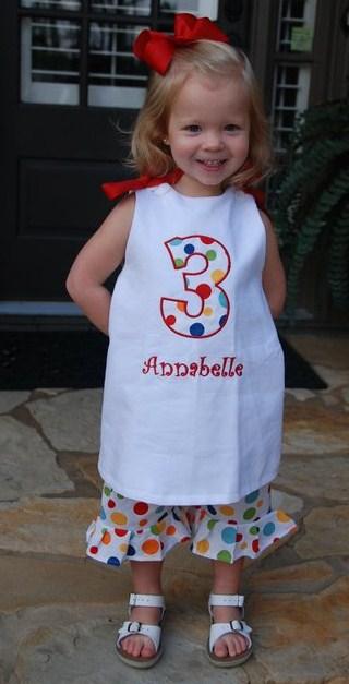 Custom Number Applique Birthday Dress
